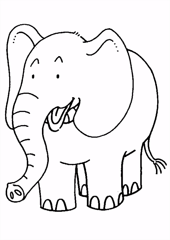Kleurplaat Kleurplaat olifant 2250