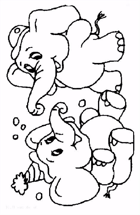 Olifanten Dieren[dag] Kleurplaten