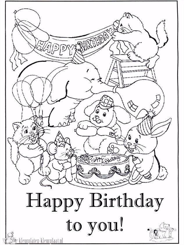 Kleurplaat Verjaardag 7 Jaar ND89