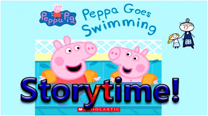 Peppa Pig Halloween Peppa Pig Peppa Goes Swimming Read Along Story