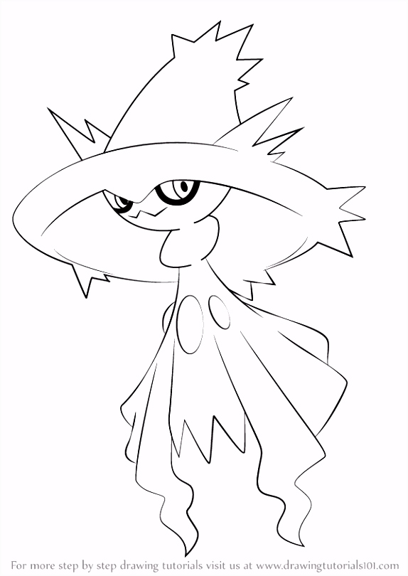 Mismagius is a ghost like character from Pokemon It has purple