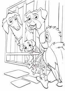 70 best Coloring Pages 101 Dalmations images on Pinterest
