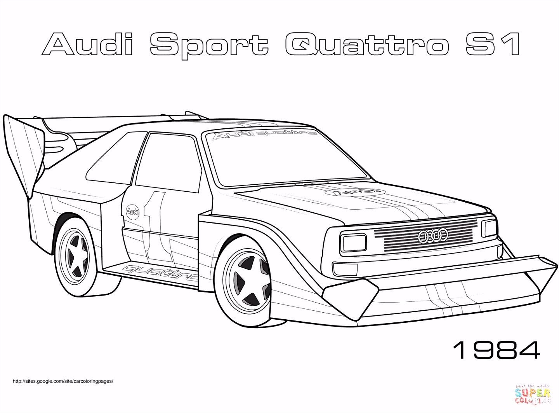 1984 Audi Sport Quattro S1 kleurplaat