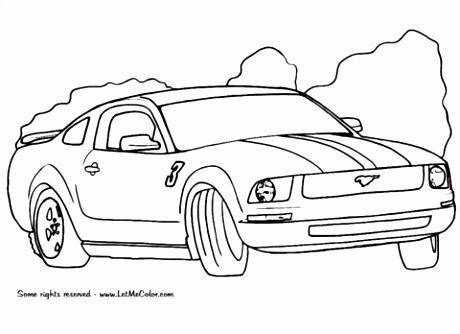 Kleurplaten Auto Ford Mustang.7 Kleurplaat Raceauto Sampletemplatex1234 Sampletemplatex1234
