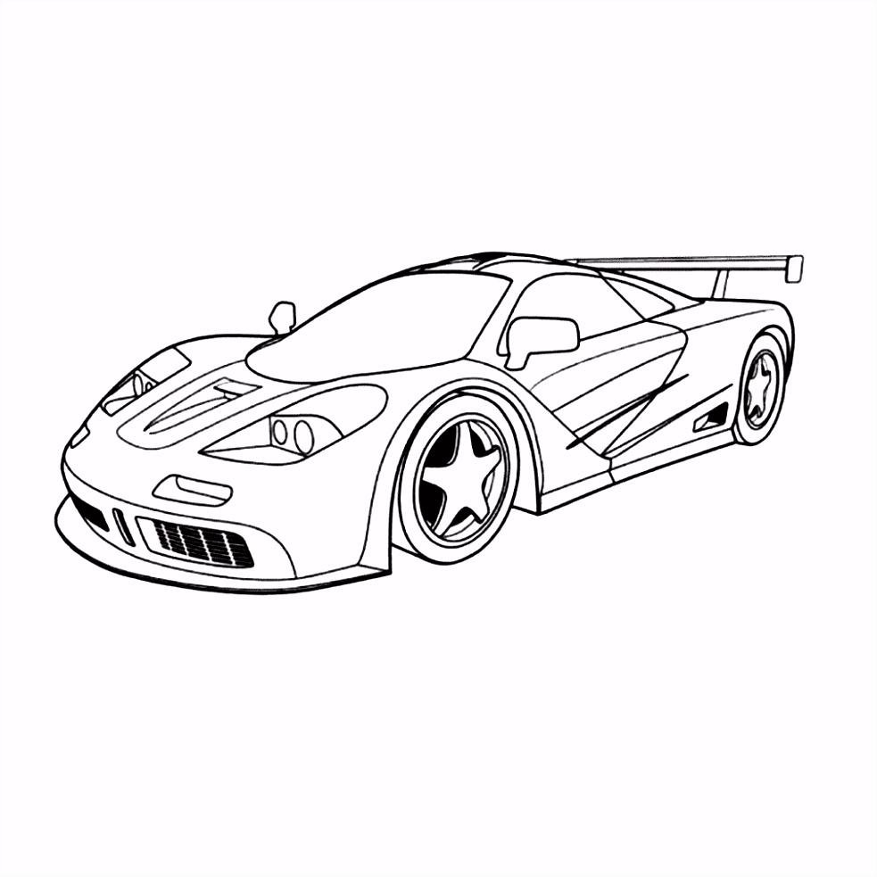 Kleurplaat Raceauto Met Spoiler ARCHIDEV
