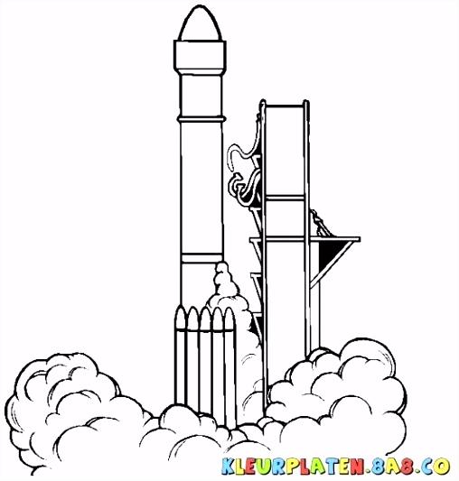 Raket Kleurplaat Van Kleurplaat Raket Kuifje – noumanfo