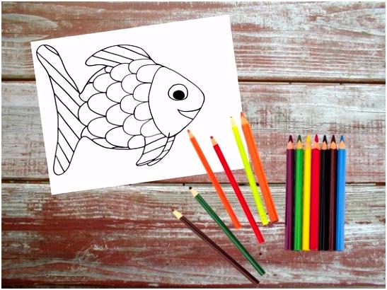 Regenboog vis afdrukbare kleurplaten pagina vis afdrukbare