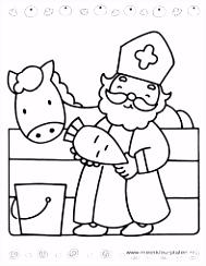 493 beste afbeeldingen van sint en piet December Coloring pages