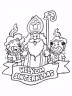 Kleurplaat Welkom Sinterklaas Kleurplaten