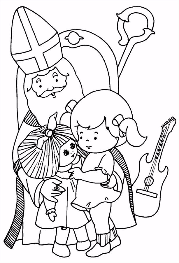 Sinterklaar En Americo Kleurplaat Schoen Sinterklaas Kleurplaat