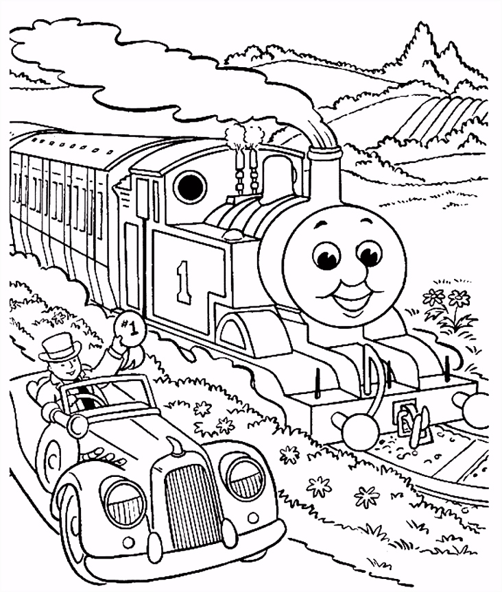Trein kleurplaten trein auto