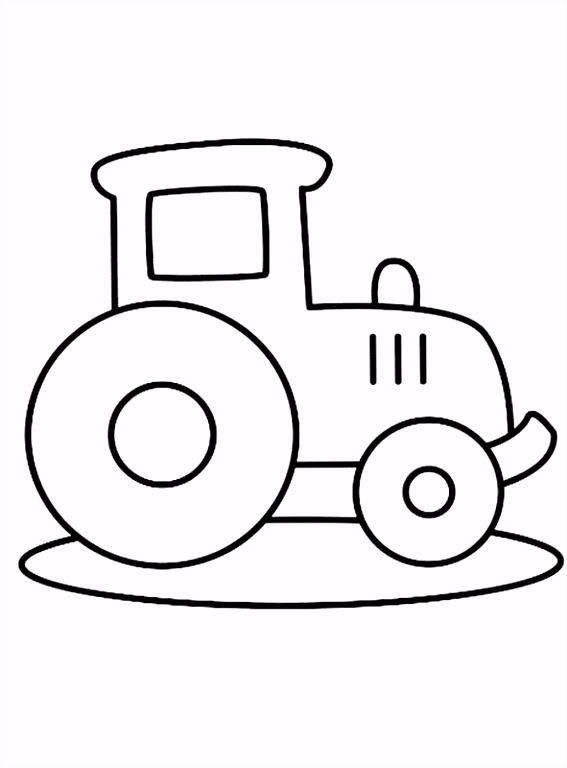 Kleurplaat Voor peuters gemakkelijke tractor kleurplaatje