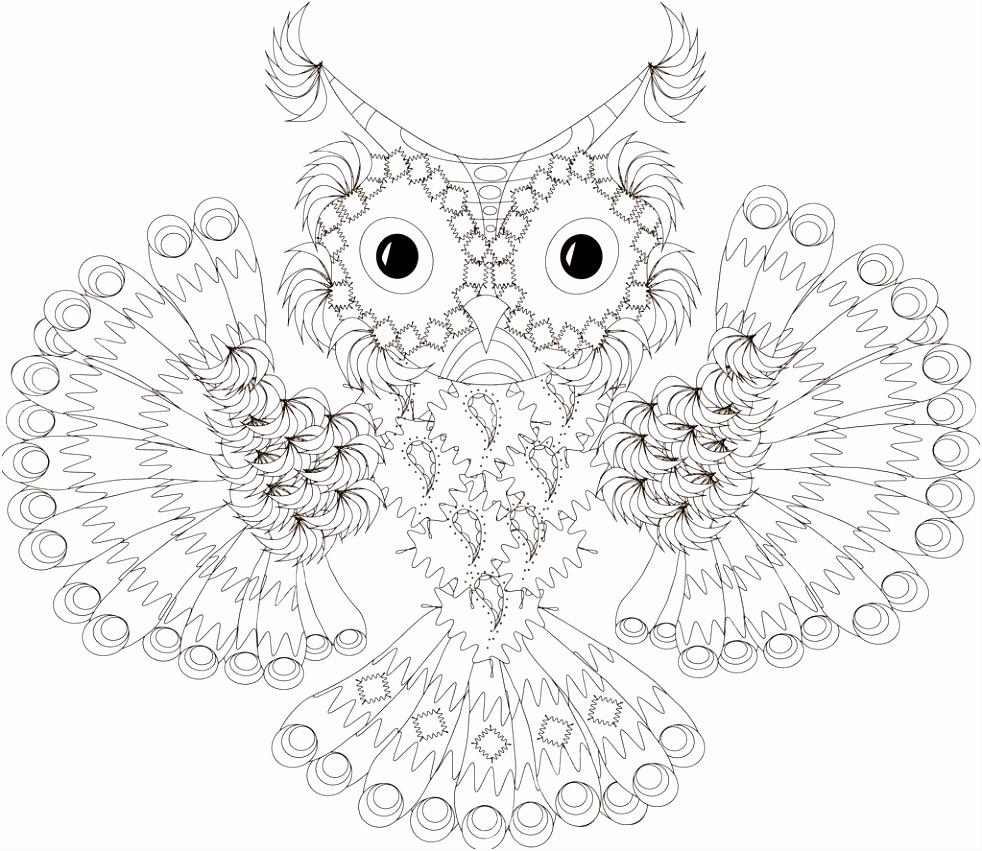 volwassenen ren kunst vogel zwart wit boeken tekenfilm