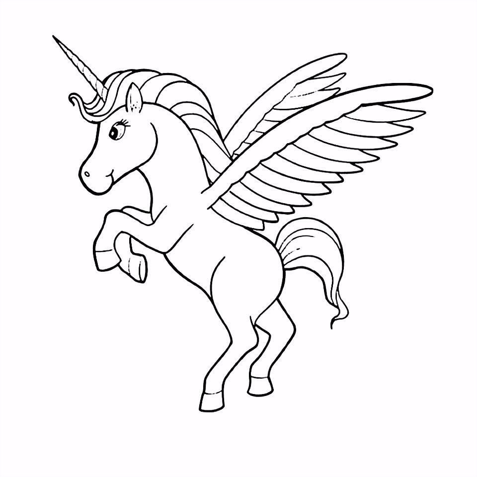 Kleurplaat Paard Vleugels ARCHIDEV