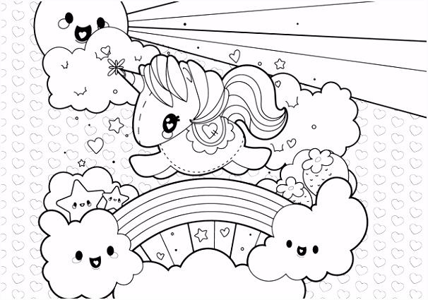 Kleurplaten Unicorn Cute Uniek Print Magic Beanie Boo Coloring Pages