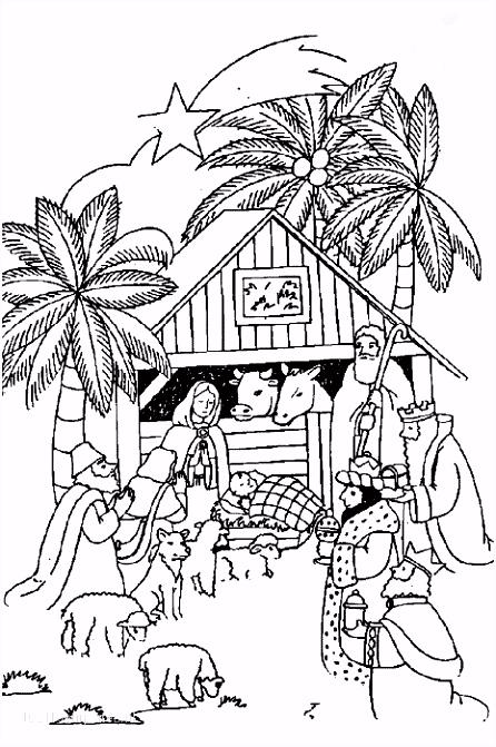 1001 KLEURPLATEN Kerst Jezus Kleurplaat Jezus Kerststal