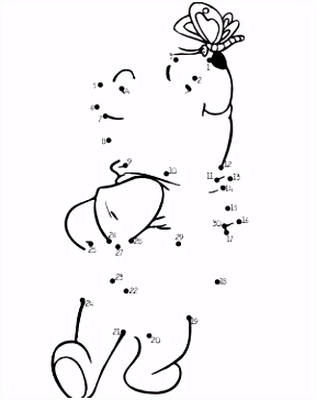 Winnie the Pooh Dot to Dot from PrintableTreats