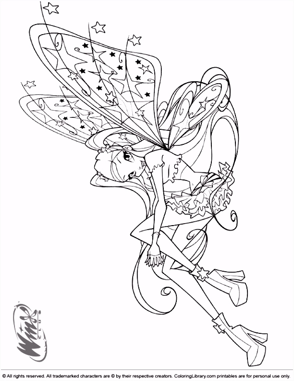 Winx Club coloring picture Coloring Pages for kids