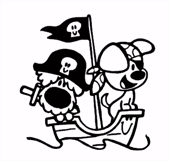 Kleurplaat Piraat Boot ARCHIDEV