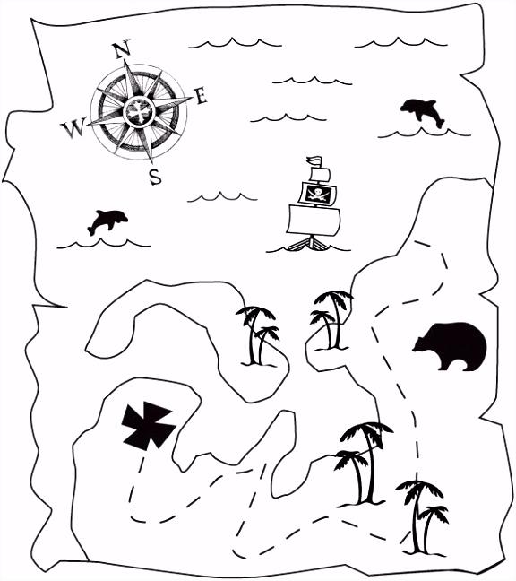 kleurplaat Piraten Schatkaart … Youth Ministry