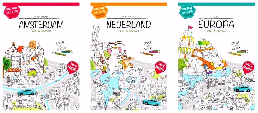 XXL kleurplaat van Amsterdam de hoofdstad Educatief Speelgoed