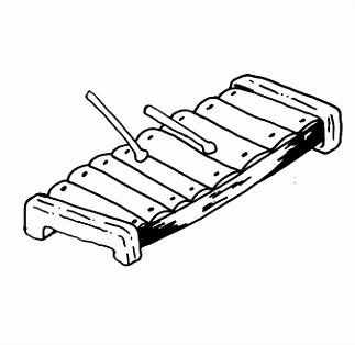 Muziek instrumenten Xylofoon Kleurplaten