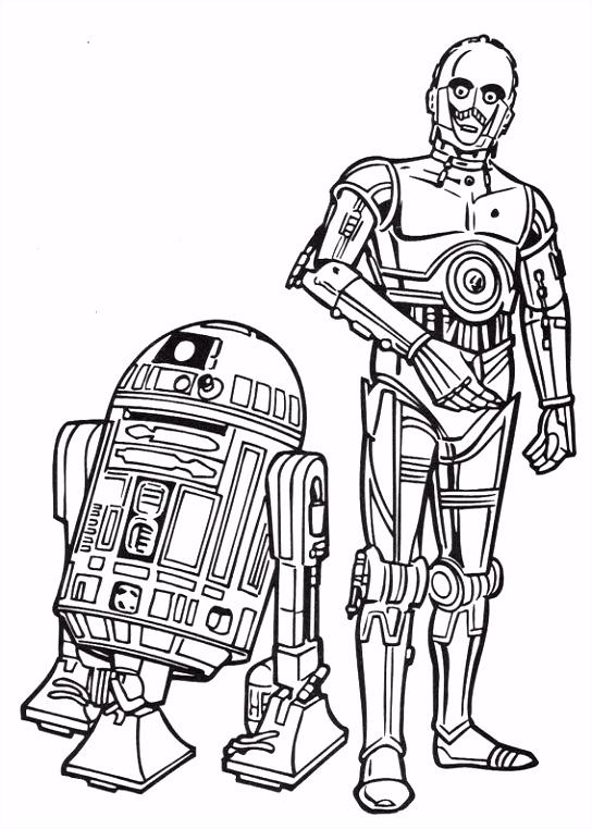 coloring page Star Wars Kids n Fun Color Free