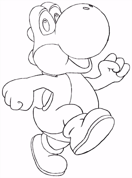 All Yoshi Coloring Pages