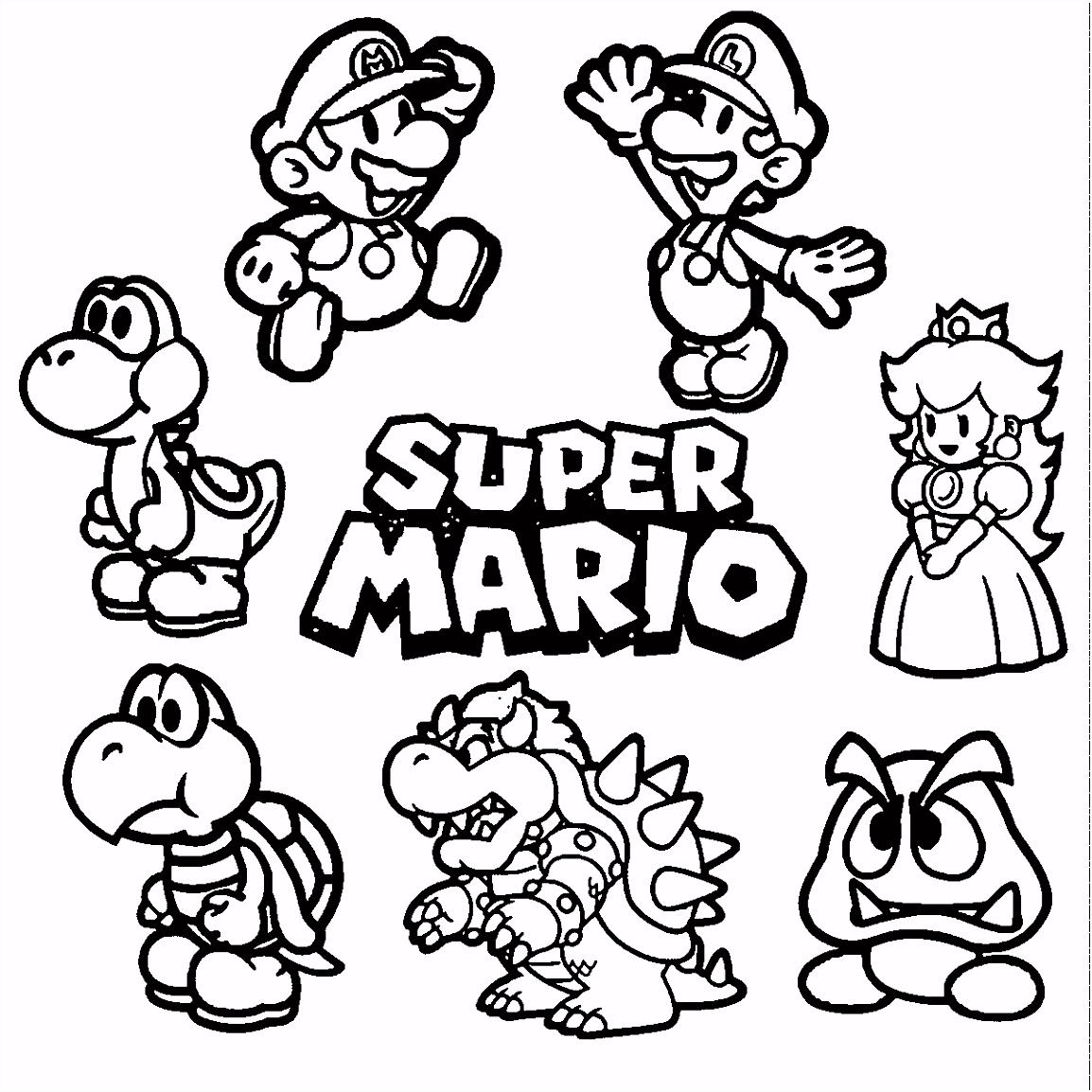 Image result for mario coloring pages peachy Pinterest