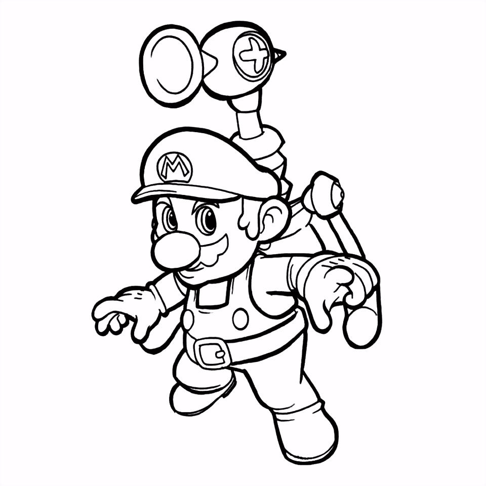 Mario in actie Kleurplaten voor jongens Pinterest