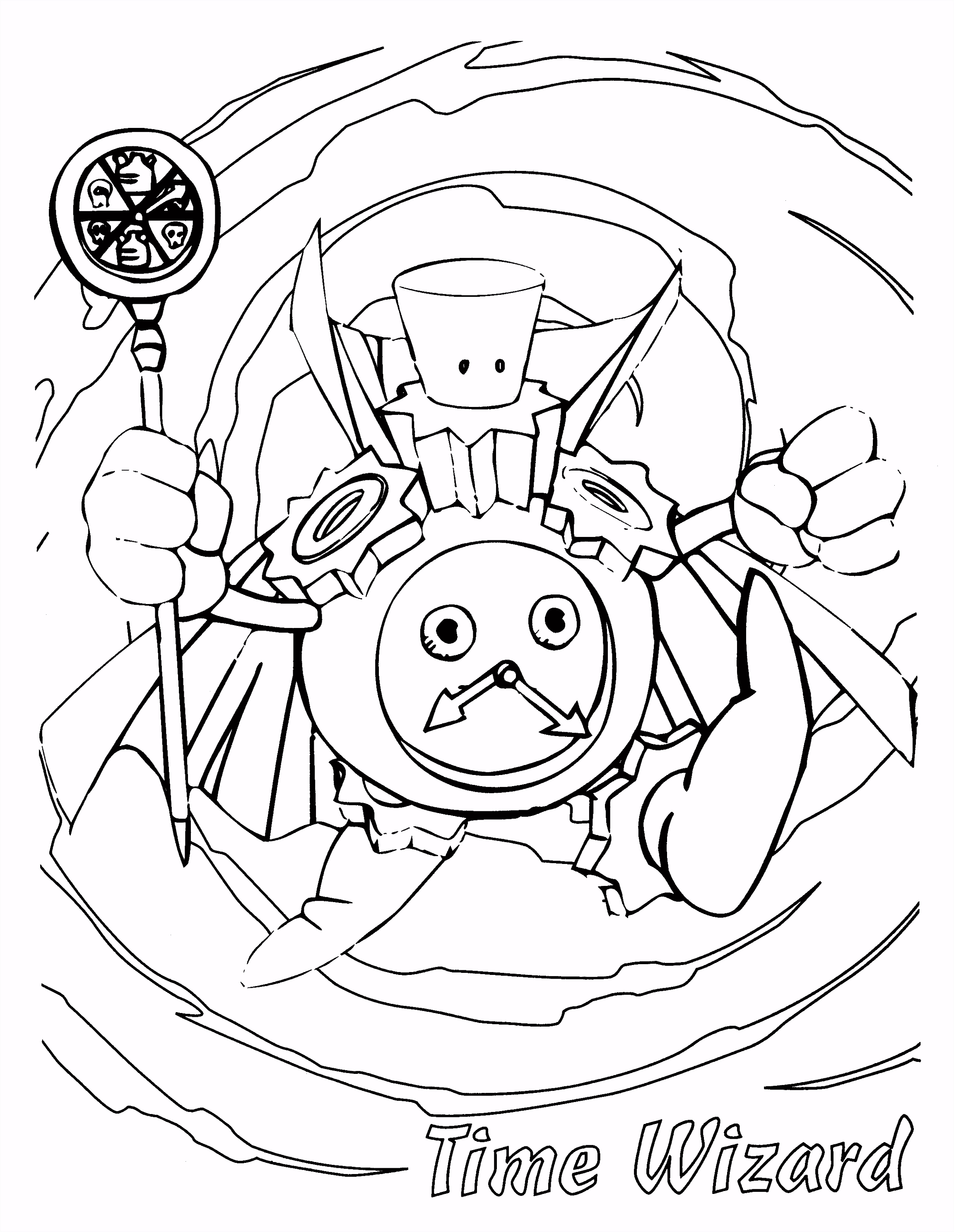 YuGiOh Paradijs Kleurplaat Time Wizard