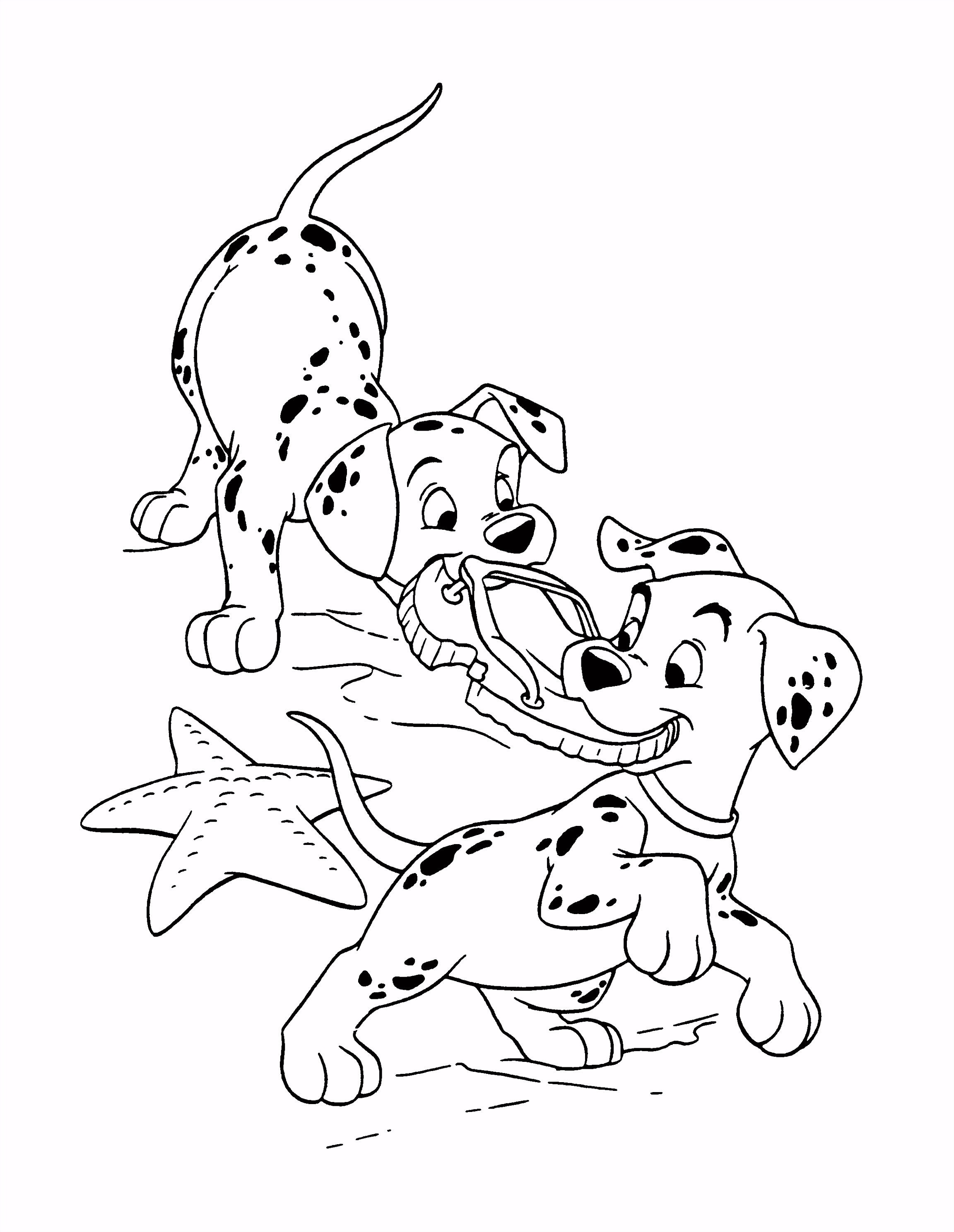 Kleurplaten 101 Dalmatiers Fris 102 Dalmatians Coloring Pages