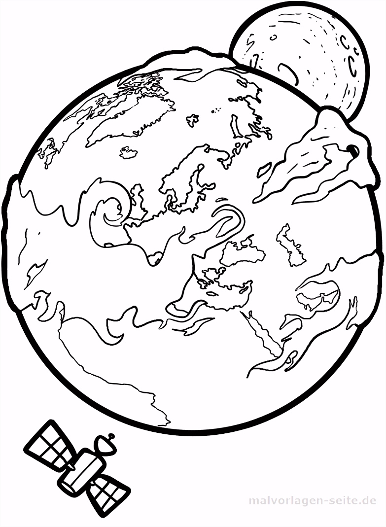 Kleurplaat Aarde