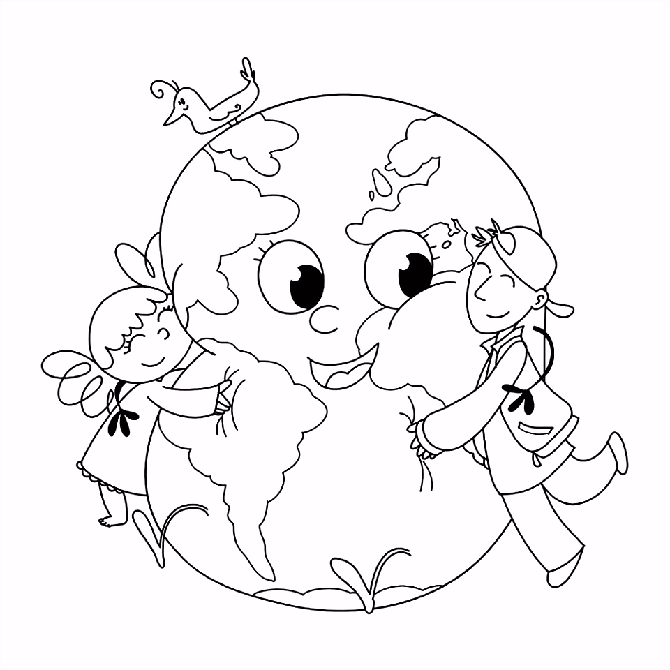 Leuk voor kids – kinderen geven de Aarde een knuffel