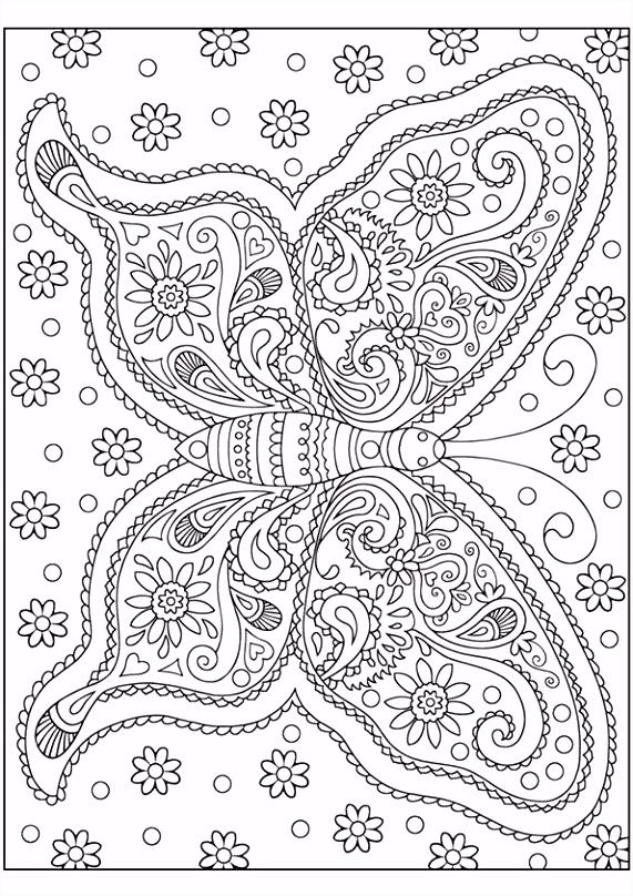 Top Kleurplaten Voor Volwassenen Vlinders &GW14