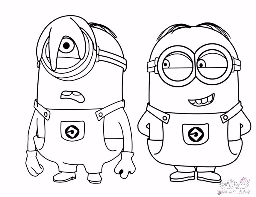 """رسومات للتلوين Ù""""Ø´Ø ØµÙŠØ§Øª الفيلم الكرتوني مينيونز لمحبي التلوين رسومات"""