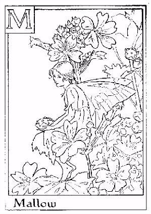 flower fairy Alphabet coloring pages second half