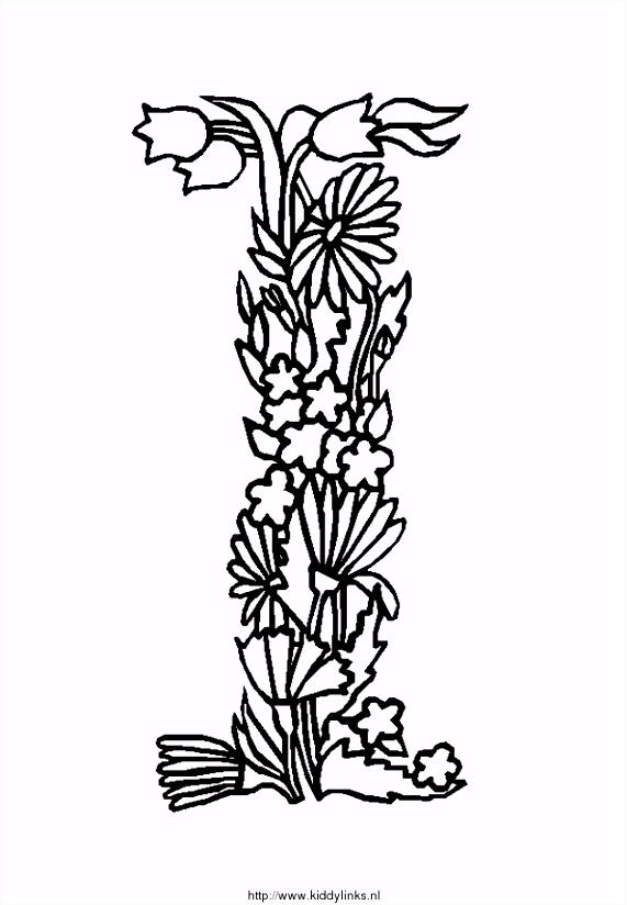 Kleurplaten Letters Bloemen Kidsnfun 26 Kleurplaten van Alfabet