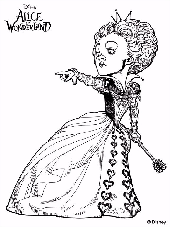 Kleurplaten Alice Through The Looking Glass Tim Burton s Alice in Wonderland coloring page