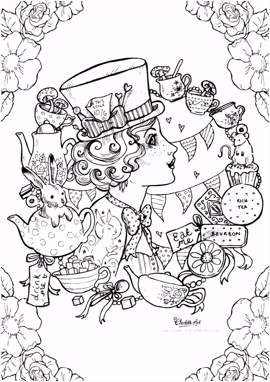 List of Alice In Wonderland Coloring Book Pdf Pict Best