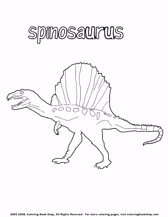 spinosaurus coloring page Dinosaurs Pinterest