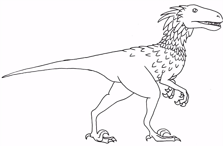 Deinonychus Coloring Page Dinosaur Pinterest