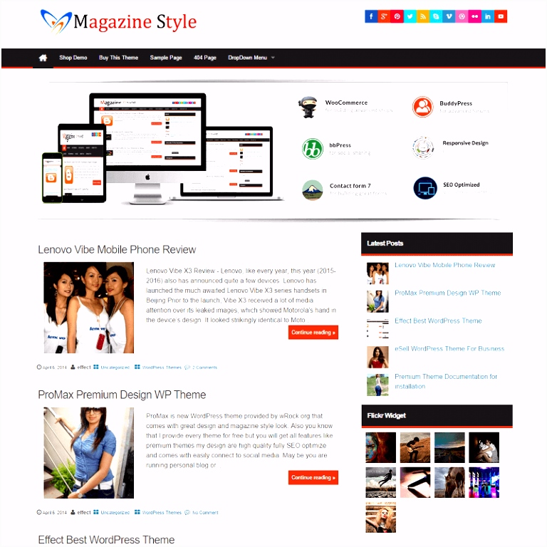 Magazine Style WordPress Theme Store InsertCart
