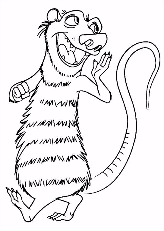Ice Age M¥larbilder för barn Teckningar online till skriv ut Nº 4