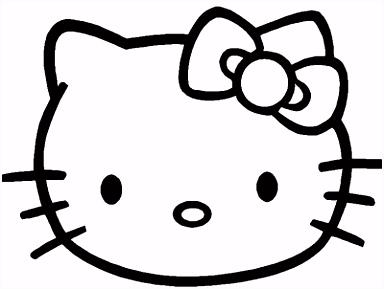 Klik hier om de Hello kitty kleurplaat te en
