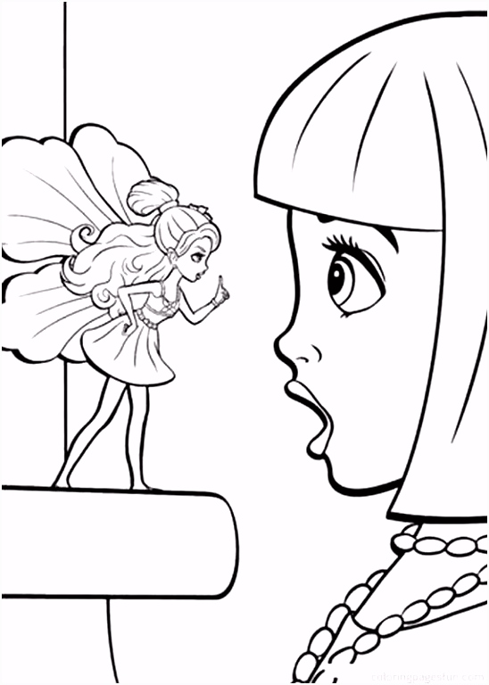 Thumbelina Barbie and Friends coloring pages Bing