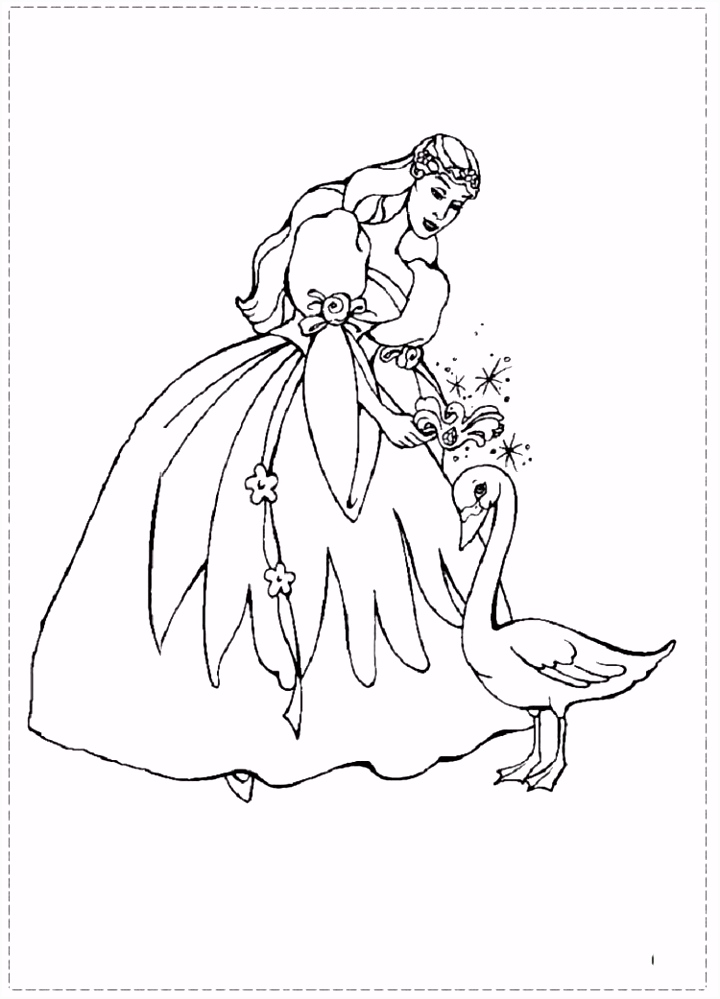 free coloring pages barbie swan lake