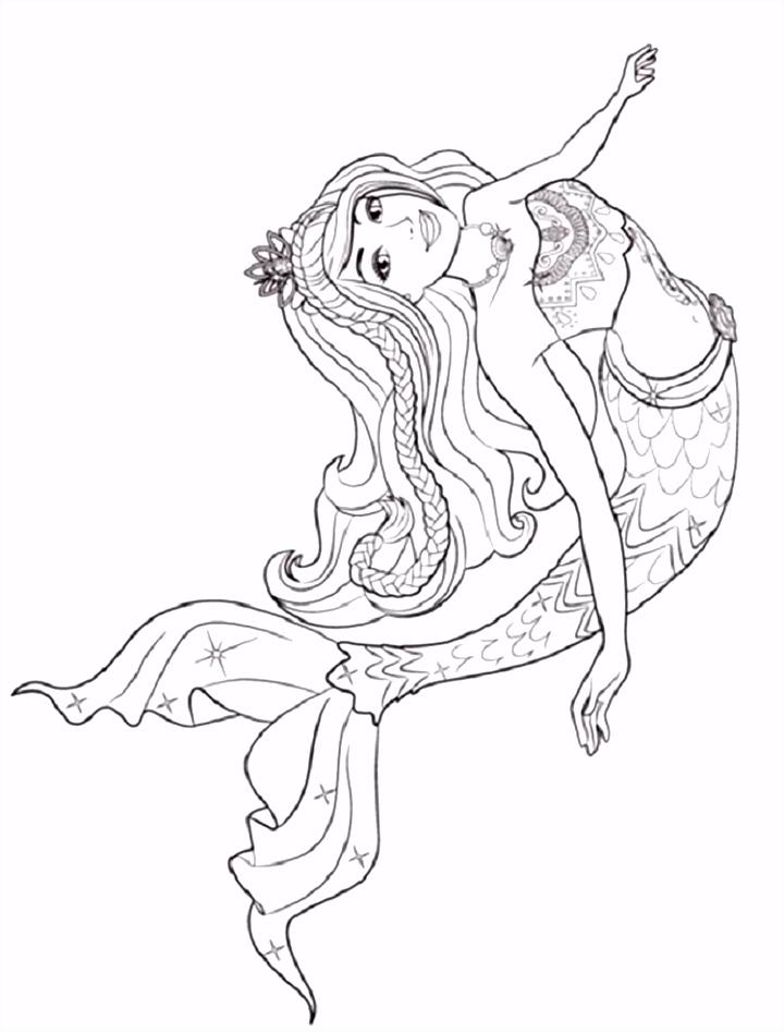 barbie princess mermaid coloring pages
