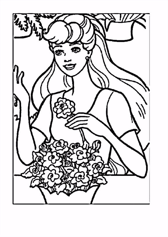 Barbie Tegninger til Farvel¦gning Printbare Farvel¦gning for b¸rn