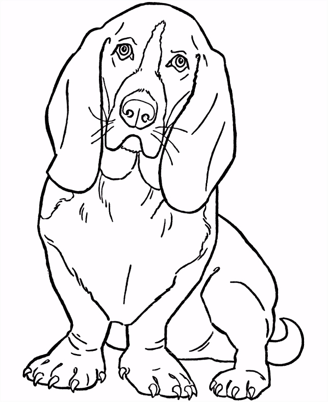 dog color pages printable Dog Coloring Pages